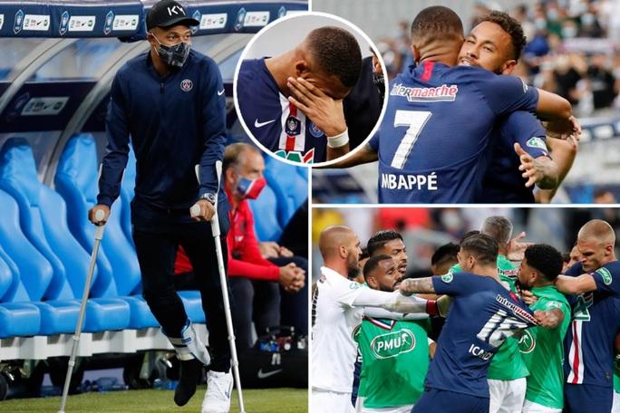 Chấn thương kinh hoàng, Mbappe chia tay Champions League - Ảnh 3.