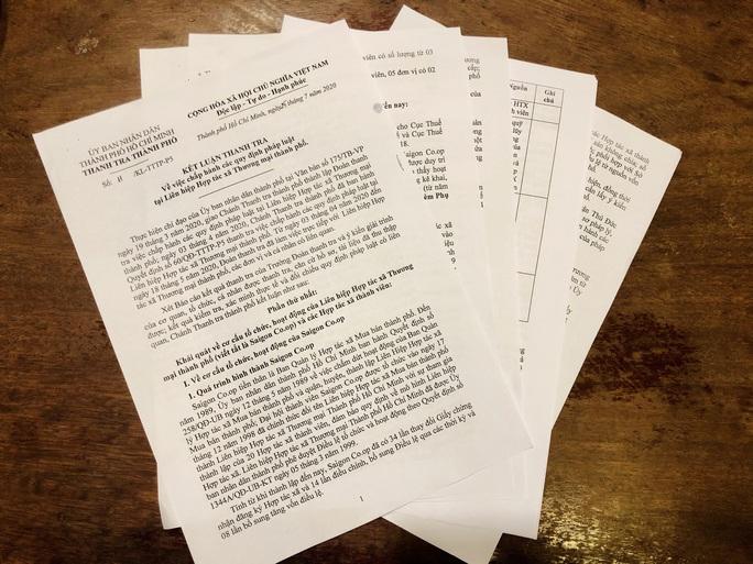Công bố kết luận thanh tra Saigon Co.op - Ảnh 1.
