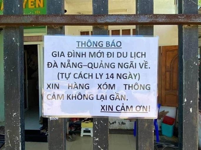 """Chuyện 1 gia đình ở Bà Rịa - Vũng Tàu dán thông báo: """"Mới đi du lịch Đà Nẵng- Quảng Ngãi về... - Ảnh 1."""