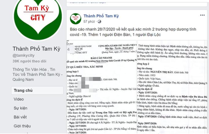 Quảng Nam: Bộ chưa công bố, mạng xã hội đã lan truyền lịch trình 2 ca dương tính - Ảnh 3.