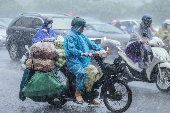 Người dân túm tụm dưới chân cầu vượt trong trận mưa vàng - Ảnh 10.