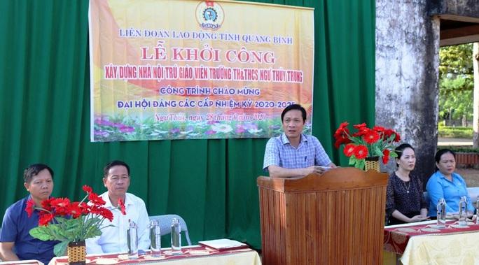 Quảng Bình: Xây nhà nội trú cho giáo viên vùng khó khăn - Ảnh 1.