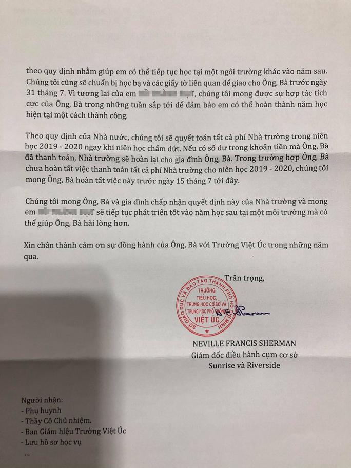 """Học sinh Trường Dân lập Quốc tế Việt Úc sốc vì bị buộc """"thôi học"""" - Ảnh 2."""