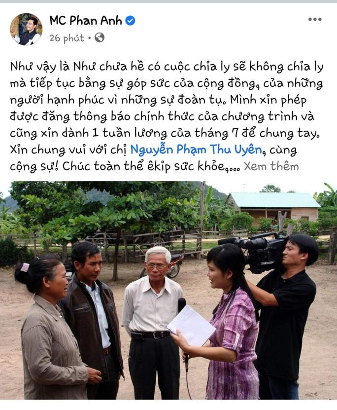 MC Phan Anh tiếp thêm sức cho Như chưa hề có cuộc chia ly - Ảnh 3.