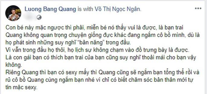 Lương Bằng Quang thách thức dư luận vì Ngân 98 - Ảnh 2.