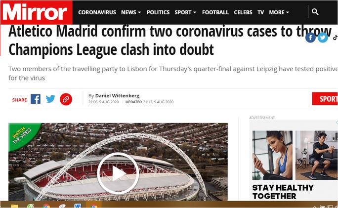 Atletico Madrid nhận hung tin trước vòng tứ kết Champions League - Ảnh 1.