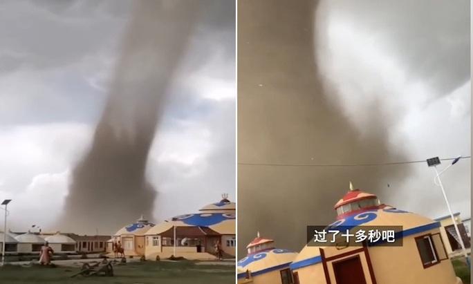 Hãi hùng bầu trời đen kịt, lốc xoáy khổng lồ phá tan khu nghỉ dưỡng Trung Quốc - Ảnh 2.