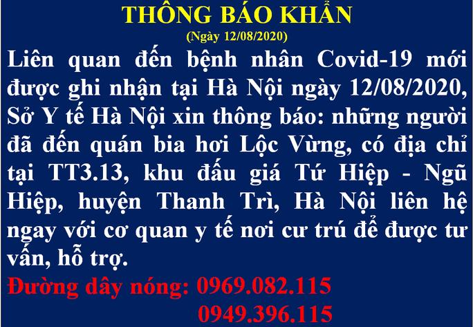 Hà Nội thông báo khẩn tìm người đến quán bia hơi Lộc Vừng - Ảnh 1.