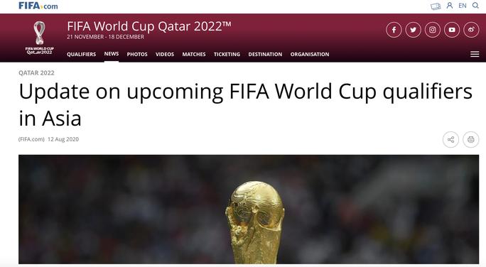 Nóng: Thầy Park vừa lên danh sách hội quân, FIFA hoãn vòng loại World Cup sang năm 2021 - Ảnh 2.