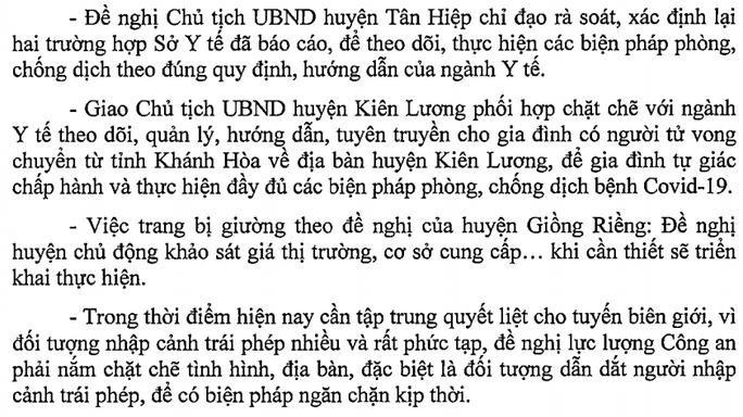 CDC Kiên Giang lên tiếng việc 1 người tử vong ở Khánh Hòa chuyển về đây chôn cất - Ảnh 1.