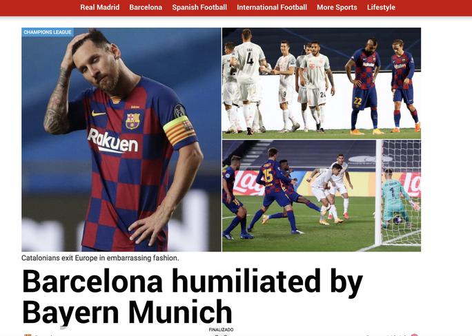 Báo chí Tây Ban Nha và châu Âu chê cười nỗi ô nhục Barcelona - Ảnh 6.