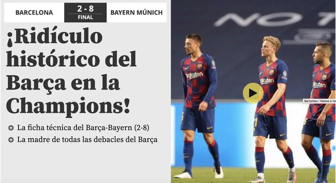 Báo chí Tây Ban Nha và châu Âu chê cười nỗi ô nhục Barcelona - Ảnh 5.
