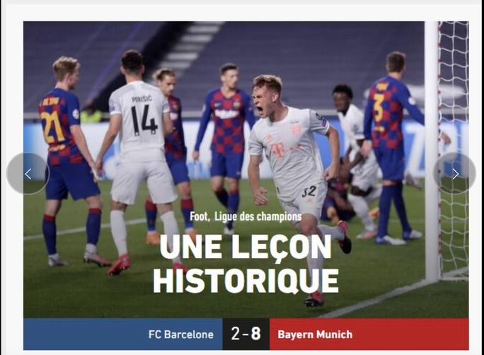 Báo chí Tây Ban Nha và châu Âu chê cười nỗi ô nhục Barcelona - Ảnh 8.