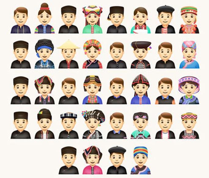 Độc đáo biểu tượng cảm xúc về 54 dân tộc Việt Nam - Ảnh 1.