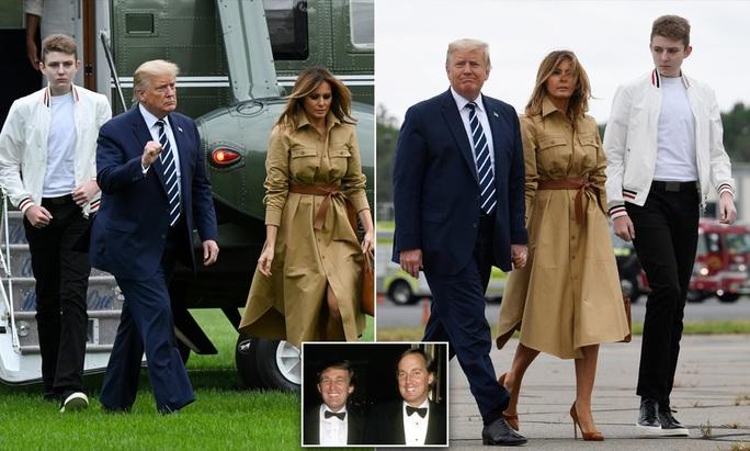 """Tổng thống Trump """"lu mờ"""" khi đi cạnh quý tử Barron - Ảnh 2."""