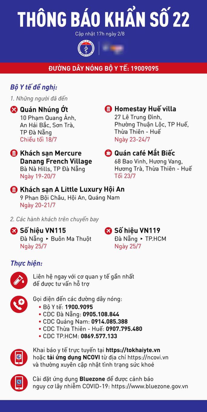 Thông báo khẩn có nhiều địa điểm nổi tiếng ở Huế, Đà Nẵng, Quảng Nam - Ảnh 2.