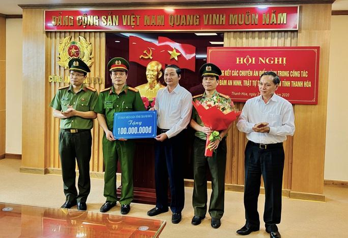 Phá nhiều vụ án phức tạp, Công an tỉnh Thanh Hóa được trao thưởng 100 triệu đồng - Ảnh 1.