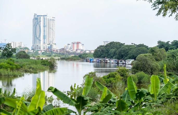 CLIP: Lạ lẫm bãi giữa sông Hồng những ngày nước ngập - Ảnh 4.