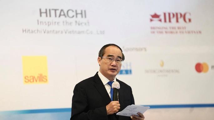 Bí thư Nguyễn Thiện Nhân nêu 9 lợi thế để doanh nghiệp Mỹ đầu tư vào TP HCM - Ảnh 1.