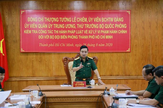 Bộ Quốc phòng kiểm tra công tác ở Bộ đội Biên phòng TP HCM - Ảnh 1.