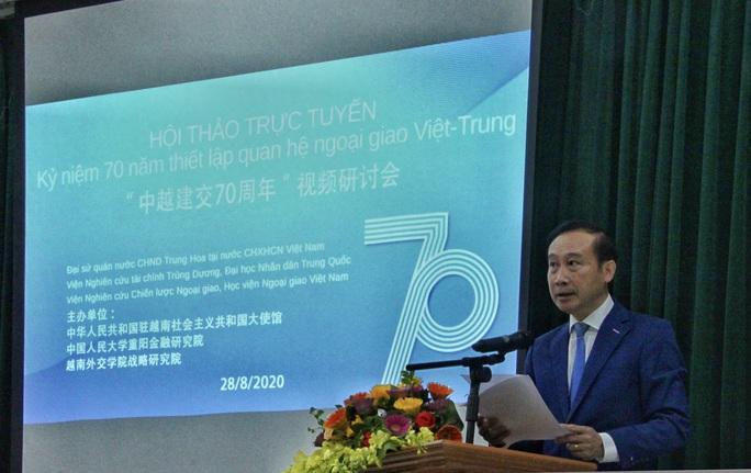 Trao đổi thẳng thắn và sâu sắc về 70 năm quan hệ Việt - Trung - Ảnh 2.