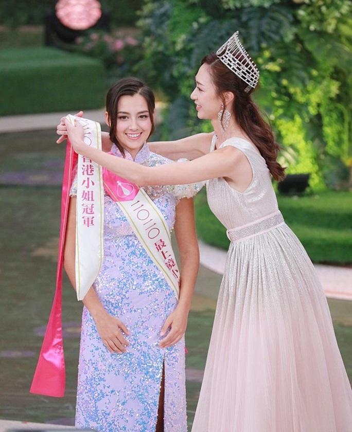 Nhan sắc tân Hoa hậu Hồng Kông gây tranh cãi - Ảnh 1.