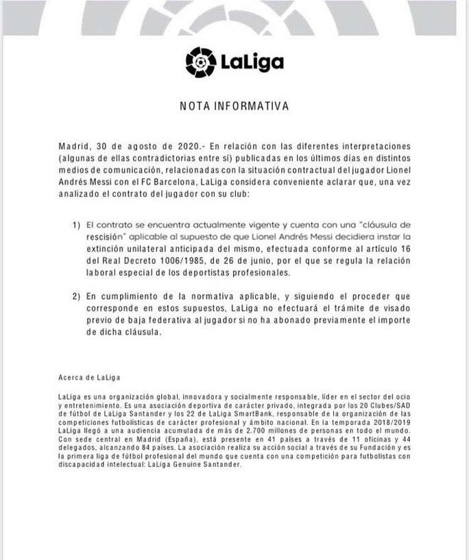La Liga tổng công kích, Lionel Messi khó tự do rời bỏ Barcelona - Ảnh 4.