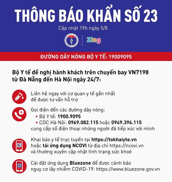 Thông báo khẩn liên quan đến chuyến bay Đà Nẵng - Hà Nội - Ảnh 1.