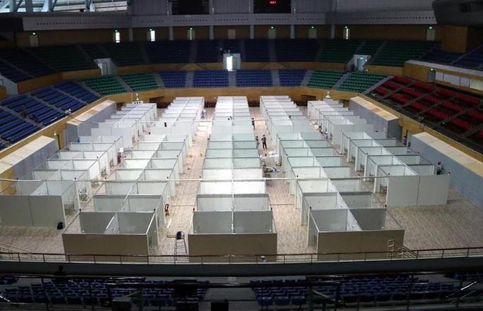 Hình ảnh bên trong Bệnh viện dã chiến Tiên Sơn - Đà Nẵng sắp hoàn thành - Ảnh 2.