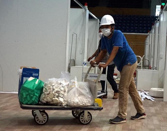 Hình ảnh bên trong Bệnh viện dã chiến Tiên Sơn - Đà Nẵng sắp hoàn thành - Ảnh 4.