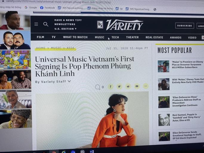 Variety: Phùng Khánh Linh là hiện tượng nhạc Pop Việt Nam - Ảnh 2.