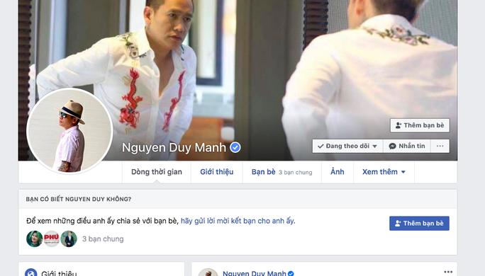 Ca sĩ Duy Mạnh bị mời làm việc về tài khoản FB Nguyen Duy Manh có phát ngôn ph.ản c.ảm - Ảnh 1.