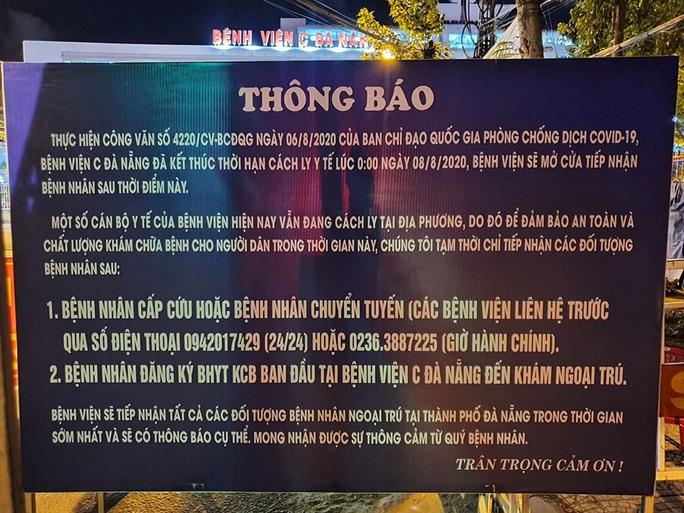 Bệnh viện C Đà Nẵng đã mở cửa trở lại, sau 14 ngày phong tỏa hoàn toàn - Ảnh 6.