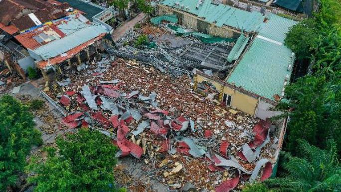 Đã tháo dỡ hơn 90% diện tích vi phạm ở Gia Trang quán - Tràm Chim Resort - Ảnh 1.