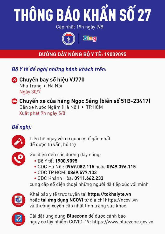 Thông báo khẩn tìm hành khách đi xe Ngọc Sáng từ Hà Nội vào TP HCM - Ảnh 1.