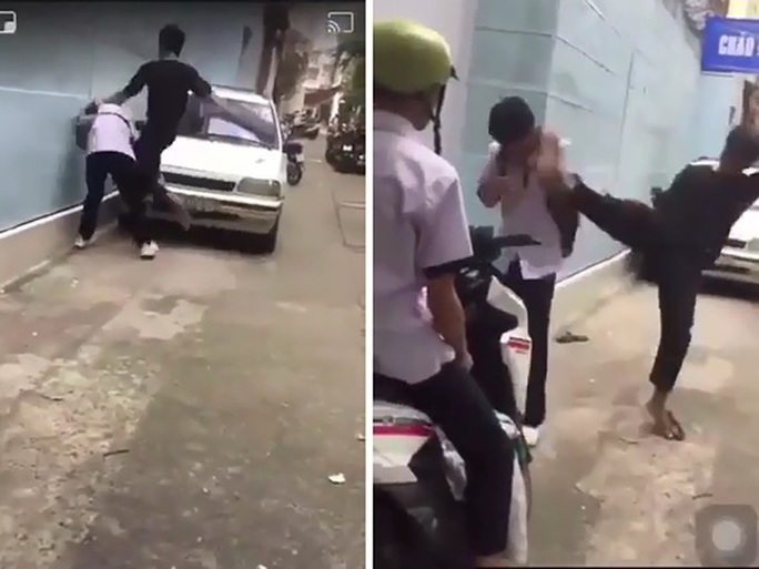 Clip nam sinh bị côn đồ đánh dã man xảy ra ở phường Tân Định - TP HCM - Ảnh 1.