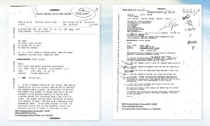 Mỹ giải mật tài liệu nguyên tắc bảo vệ Đài Loan sau 40 năm - Ảnh 1.