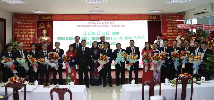 Công bố Hội đồng trường, Chủ tịch Hội đồng Trường ĐH Nông lâm TPHCM - Ảnh 1.