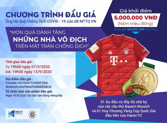 Next Media và Hà Nội FC tổ chức đấu giá vật phẩm ủng hộ công cuộc chống dịch Covid - 19 - Ảnh 1.