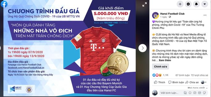 Next Media và Hà Nội FC tổ chức đấu giá vật phẩm ủng hộ công cuộc chống dịch Covid - 19 - Ảnh 2.