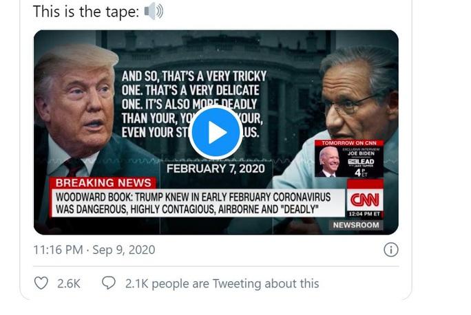 Thừa nhận gây bão của Tổng thống Trump về Covid-19 - Ảnh 2.