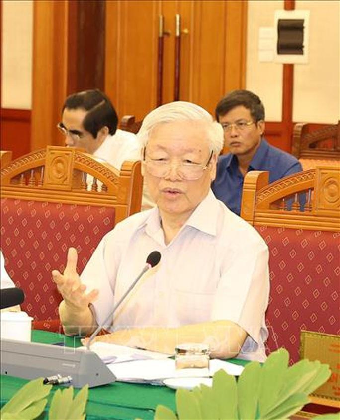 Tổng Bí thư, Chủ tịch nước chủ trì buổi làm việc với Thường vụ Quân ủy Trung ương - Ảnh 1.