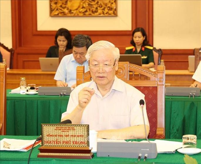 Tổng Bí thư, Chủ tịch nước chủ trì buổi làm việc với Thường vụ Quân ủy Trung ương - Ảnh 5.