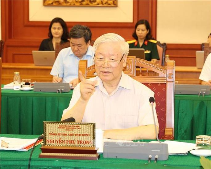 Tổng Bí thư, Chủ tịch nước chủ trì buổi làm việc với Thường vụ Quân ủy Trung ương - Ảnh 6.