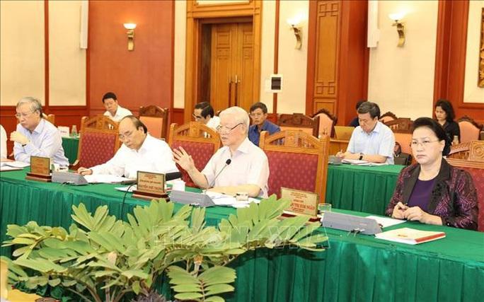 Tổng Bí thư, Chủ tịch nước chủ trì buổi làm việc với Thường vụ Quân ủy Trung ương - Ảnh 4.