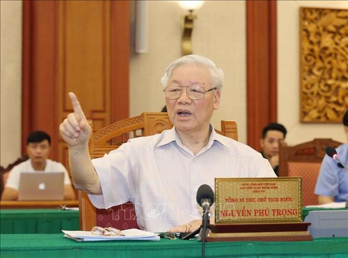 Tổng Bí thư, Chủ tịch nước chủ trì buổi làm việc với Thường vụ Quân ủy Trung ương - Ảnh 7.