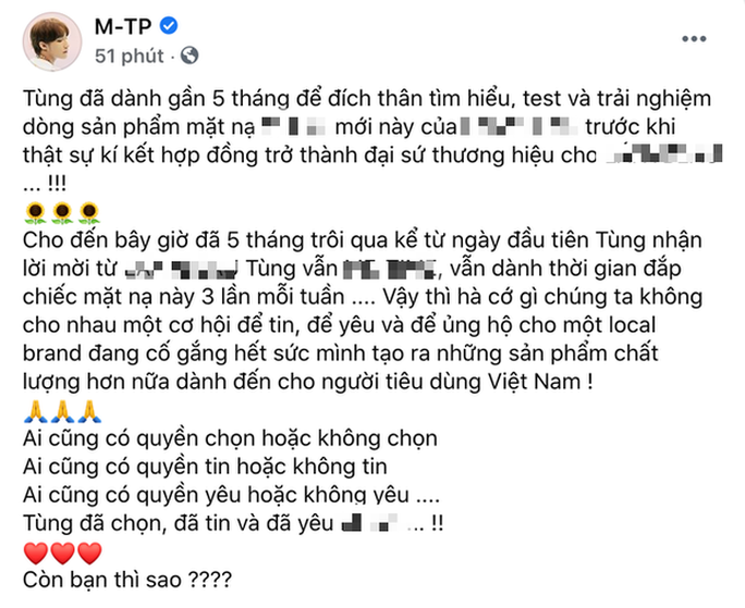 Sơn Tùng M-TP lên tiếng về nghi án bán kem trộn - Ảnh 1.