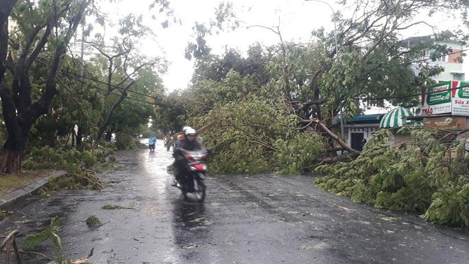 Nhà tốc mái, cây xanh, trạm điện gãy sập vì bão số 5 - Ảnh 18.