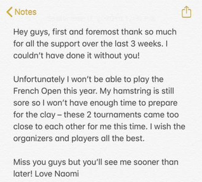 Nhà vô địch US Open 2020 rút lui khỏi Roland Garros vì chấn thương - Ảnh 3.