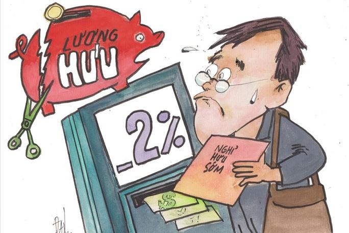 CHÍNH SÁCH NGHỈ HƯU SỚM: Khoản trừ 2% mỗi năm đang gây khó cho NLĐ - Ảnh 1.
